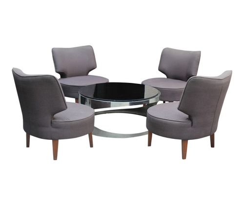 Elano Grey Chairs With Steel Round Table Task Chair Office Desk Chair Corporate Chairs Modern Office Chair Office Chairs And Desks Rentomania Pvt Ltd New Delhi Id 19808162673