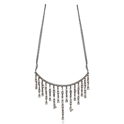 Metarock Jewels Baguette Diamond 925 Sterling Silver Chain Necklace