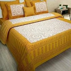 Double Bed Sheet (90x108) (60/60) & 2 Pillow Covers Set