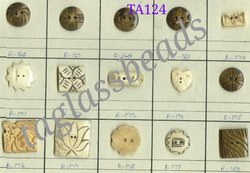 TAGB Natural Bone Carved Handmade Button, 4, Size/Dimension: 20 Mm