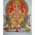 White Ganesh God Tiles, Thickness: 6 - 8 Mm, Size: Medium