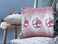 The Cotton Ombre Block Print Cushion Cover