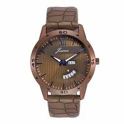 Jainx Brown Dial Day and Date Analog Watch for Men & Boys JM287