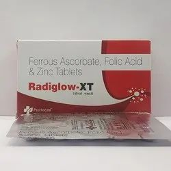 Ferrous Ascorbate with Folic Acid and Zinc Tablets, Packaging Type: Alu-Alu
