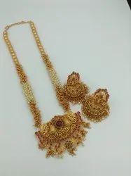 D No 10000 Brass Jewellery Set with Earrings