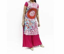Women's Straight Fit Printed Kurta