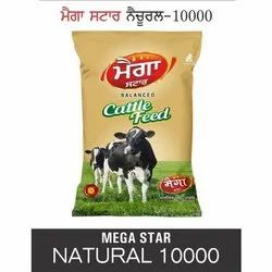 Mega Star Natural 10000 Cattle Feed, Packaging Type: PP Bags