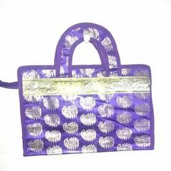 Blue PP and Non Woven Printed Designer Ladies Hand Bag