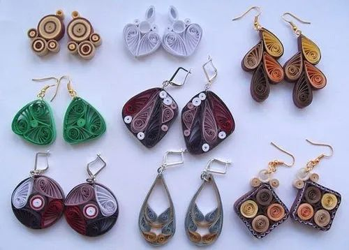 Floral Party Quilled Earrings