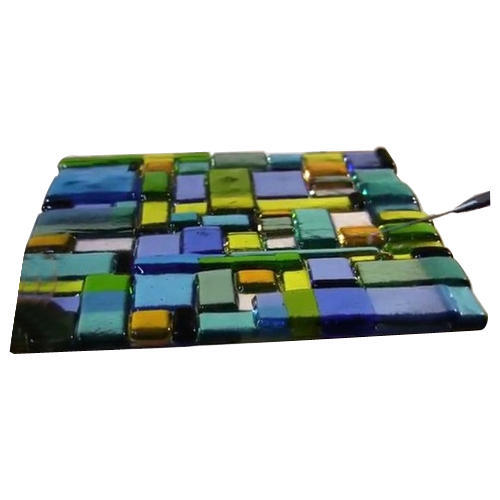 Multicolor Fused Glass, Size: 2*2 Feet
