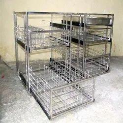 Shivam Steel Stainless Steel Modular Kitchen Trolley