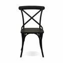 Outdoor Cross Back Metal Chair