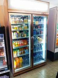 Supermarket Double Door Display Fridge