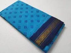 Printed Casual Wear Sungadi Saree, 5.2 m (Separate Blouse Piece)