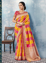 Wedding Wear Cut Work Designer Sarees