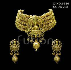 Fusion Traditional Antique Temple Necklace Set