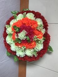 Artificial Flowers Wall Hanging