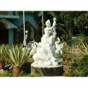 Fiber White Fiberglass Statue, For Exterior Decor