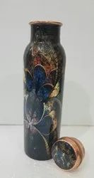 Digital Flower  Meena  Print Copper Bottle