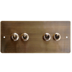 Flush Heritage Antique Switches Metal Plate