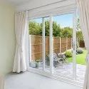 UPVC Two Track White Sliding Door