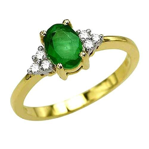 Emerald Gold Rings Emerald Jewellery Valentine Jewellery India