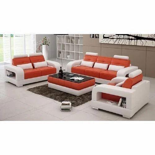 Orange And White Modern Sofa Set Rs