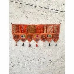 Indian Vintage Hand Embroidered Patchwork Toran Home Decor