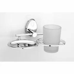 SS Soap Dish With Tumbler Holder