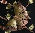 Handcrafted Iron Golden Butterfly On Tree Twing Wall Decor