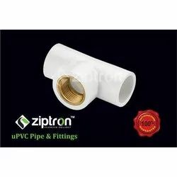 Female UPVC Reducer Brass Tee, Plumbing