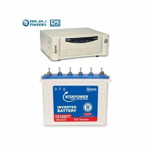 Microtek 1100VA Inverter EB 1800 150AH Tubular Battery Combo