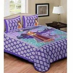 Jaipuri Cotton Bed Sheet With Pillow Cover