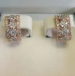 Designer Diamond Bali Earrings