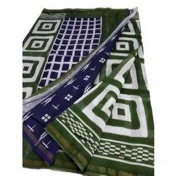 6.5 Metre Festive Wear Ladies Chanderi Cotton Sarees, With Blouse Piece