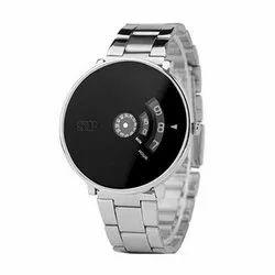 Mens Silver Strap Wrist Watch