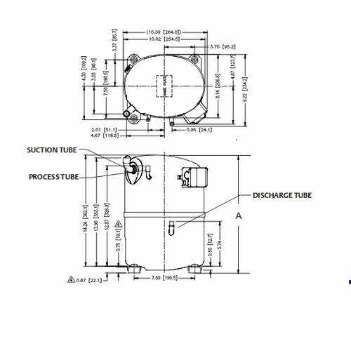 Emerson Cr53kqme Tfd 3 Phase Copeland Crk6 Amp Kq Compressor
