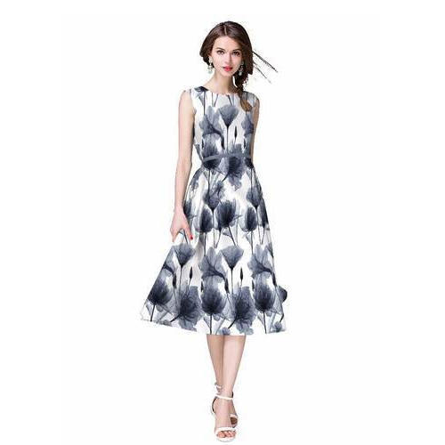 Digital Black and White Printed Frock at Rs 699  piece  5a1c8505f