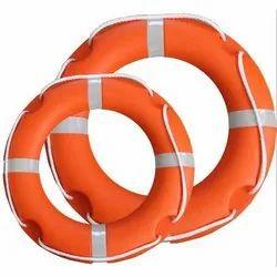 Orange Polyethylene Lifebuoy Ring, Round