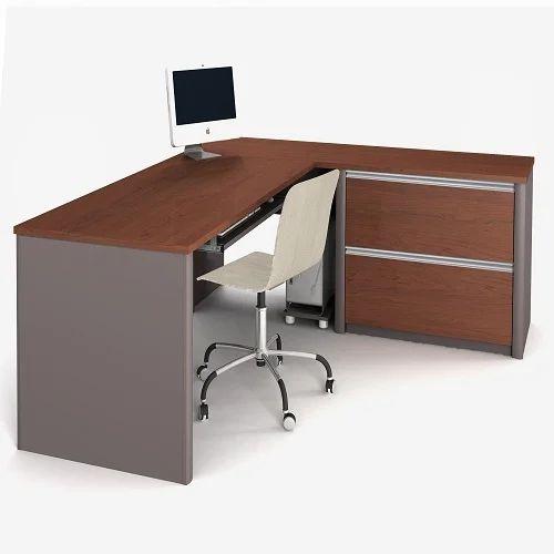 L Shape Office Desks With Brown Modern Shaped Office Desk Desk Delhi Woodwork Home Service Id