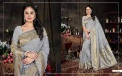 Silk India Embroidered Designer Art Silk Sarees, Machine Made, 5.5 m (separate blouse piece)