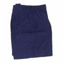 Cotton Casual Wear Blue School Shorts, Size: L, M