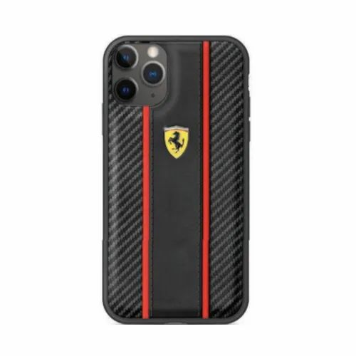 Apple Iphones Black Ferrari Iphone 11 Pro Carbon Vertical Stripe Phone Cover For Mobile Safety Rs 3199 Box Id 21859771333