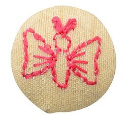 Fabric and Lace Buttons Embroidery Butterfly Design With Color Tread Work Buttons