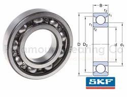 6313 C3 SKF Deep Groove Ball Bearings, Single Row