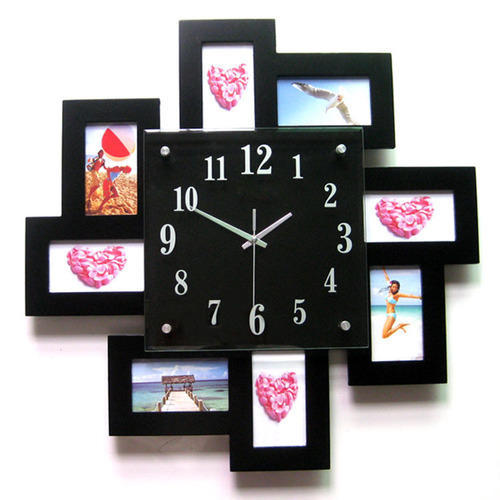Black Wood Promotional Wall Clocks With Photo Frames Rs 450 Piece