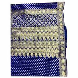 Party Wear Embroidered Sami Katan Pattli Silk Saree, 6 m (with blouse piece)