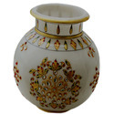 Marble Inlay Flower Pot