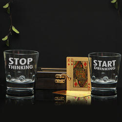 c478e8a2b4b Whiskey Glasses With Playing Card Set Set Of 2