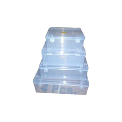 Transparent Rectangle Plastic Jewellery Box